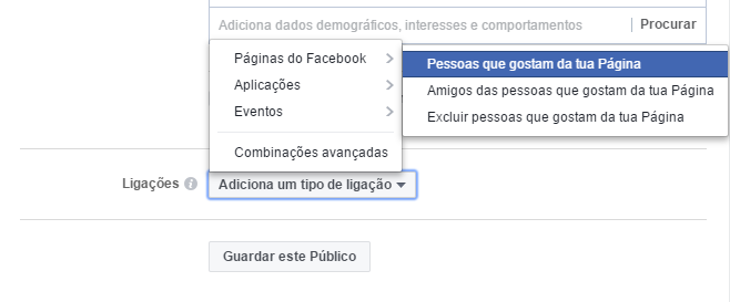 facebook ads excluir pessoas que gostam página